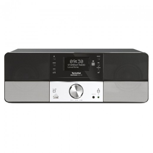 Technisat  0000/4990 DigitRadio 360 CD | schwarz, DAB+/UKW, CD-Player