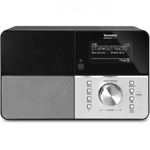 Technisat  0010/4991 DigitRadio 306 IR | schwarz, DAB+/UKW/Internet