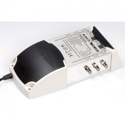 AMS 506 N ECO Multischalter 5/6 für 6 Teilnehmer | 5 in 6, Terrestrik verstärkt, Stromspar-Funktion, HDTV-, UHD(4K)-,3D-tauglich