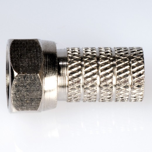 F1 HQ schraubbarer High-Quality F-Stecker für 6,1 mm Koaxialkabel