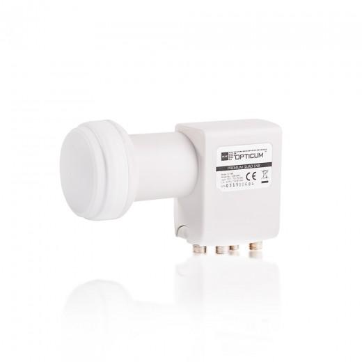 Opticum LQP-04H Quad LNB | vergoldete Kontakte | FullHD und 3D fähig | 0,1 dB