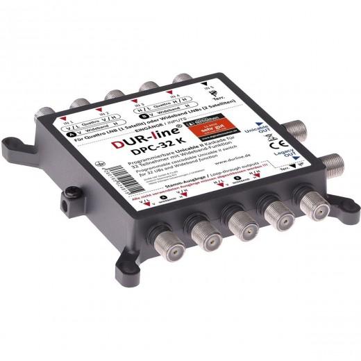 DUR-line DPC-32 K Einkabellösung   SCR, Unicable/JESS Multischalter 32 Teilnehmer, für Quattro LNBs