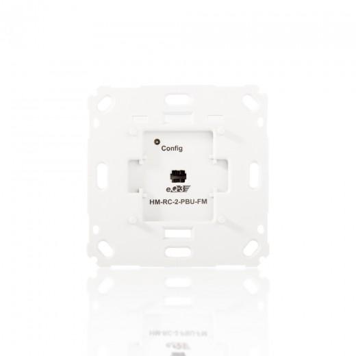 HomeMatic Funk-Wandsender 142237 HM-RC-2-PBU-FM 2-fach für Markenschalter UP | B-Ware