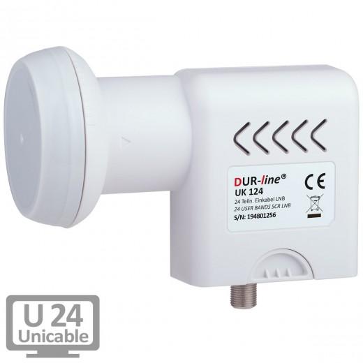 DUR-line UK 124 Einkabel SCR LNB 24 Teilnehmer | 8x SCR 50494 + 16x JESS 50607