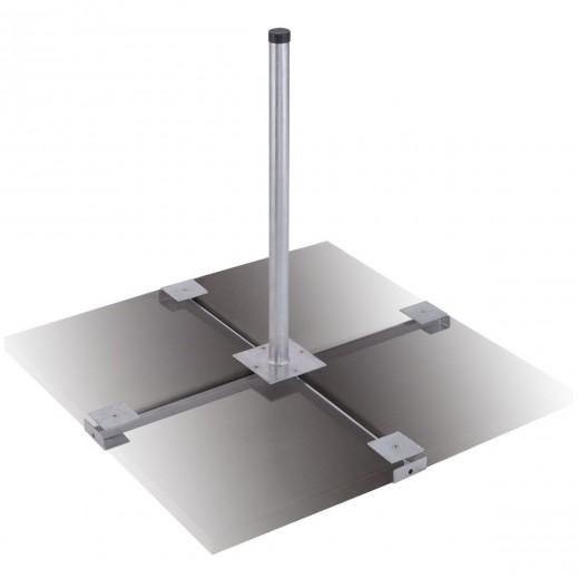 DUR-line Herkules 4-Platten Balkonständer feuerverzinkt für Antennen bis 90cm