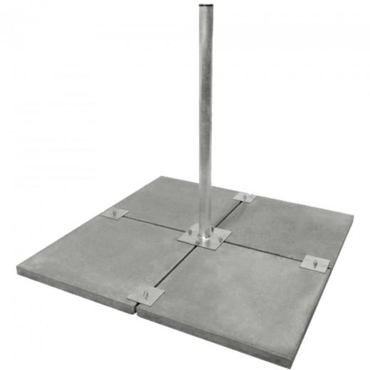 DUR-line Stabilo 4-Platten Balkonständer feuerverzinkt für Antennen bis 90cm