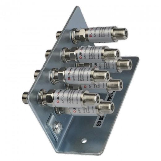 DUR-line Erdungsschiene 7-fach + 7x Blitzschutz DLBS 3001 Überspannungsschutz