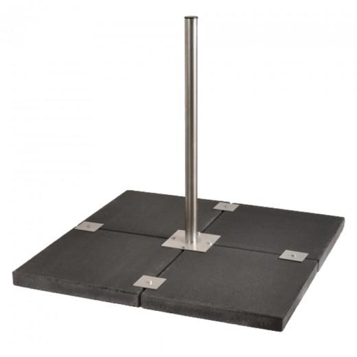 Stabilo Universal 4-Plattenständer/Balkonständer Edelstahl für Antennen bis 90cm Durchmesser