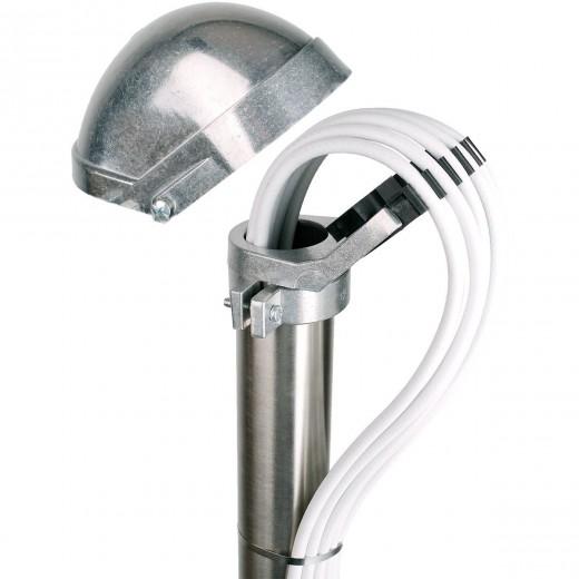 DUR-line MaKa 50 ALU Aluminium-Mastkappe | Kabeleinführung für bis zu 25 Kabel