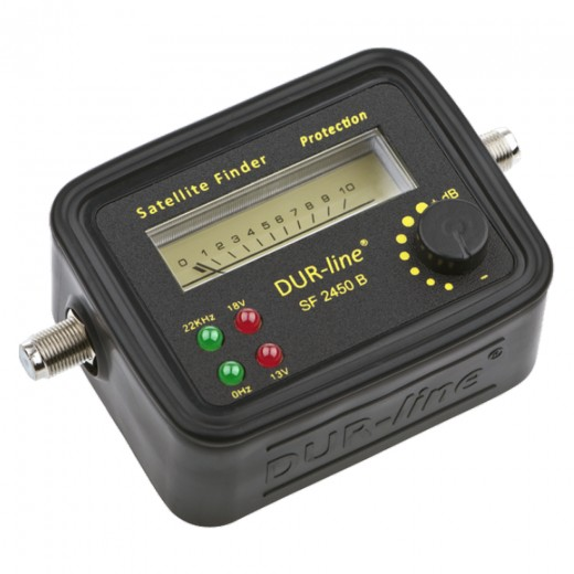 SF 2450 Satfinder schwarz mit LED-Anzeige mit Gummi-Schutzhülle
