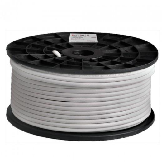 DUR-line DUR 110-100 Koaxialkabel 100m-Rolle SAT-Digitalkabel 7mm, 4-fach geschirmt, 1,02 CU
