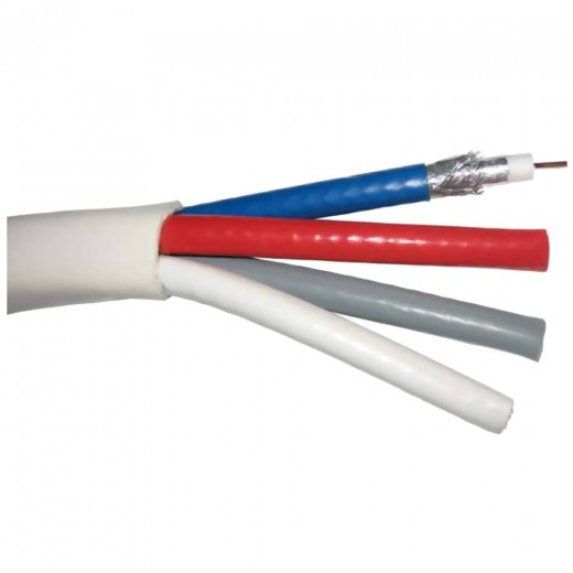 DUR-line DUR 110TR-50-Quad Koaxialkabel 50m-Tromme 4x Rundkabel 7,2mm, 4-fach geschirmt, 1,02 CU
