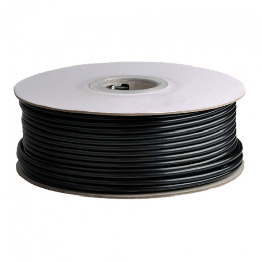 DUR-line DUR 95-100 UV-Koaxialkabel 100m-Ring SAT-Digitalkabel 7mm, 1,13 CU, schwarz