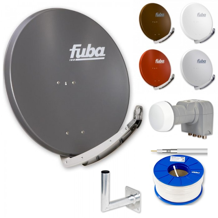 fuba hdtv sat anlage 4 teilnehmer fuba daa 850 alu sat antenne dek 416 lnb daz. Black Bedroom Furniture Sets. Home Design Ideas