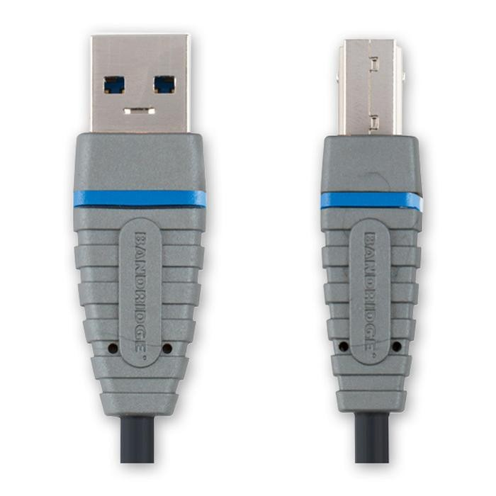 Bandridge BCL 5102 USB 3.0 SuperSpeed USB-Kabel 2,0 m vernickelte ...