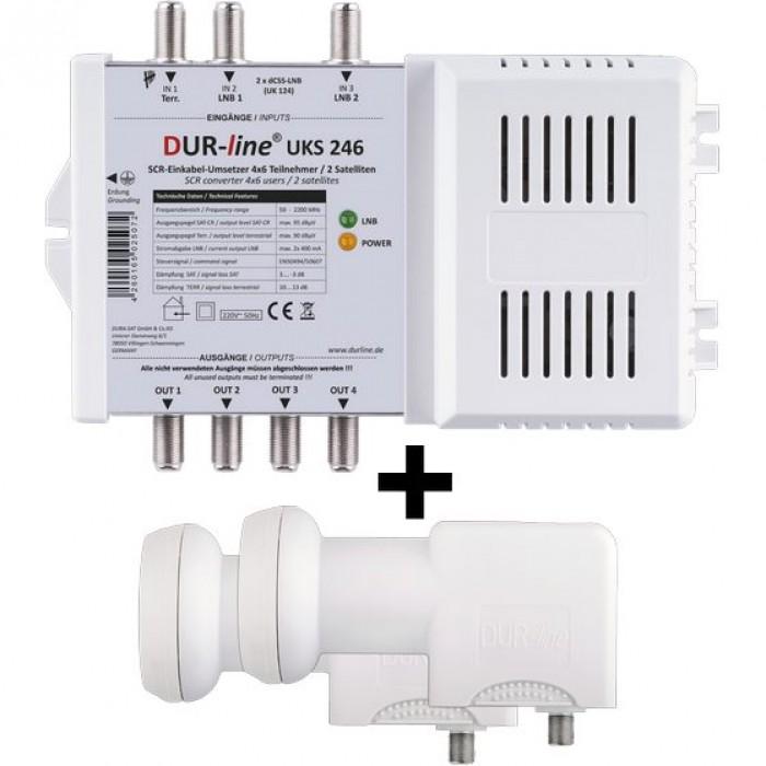 DUR-line UKS 246 Einkabel Set Multischalter 2 LNB