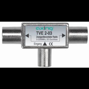 Axing TVE 2-03 TV Zwei-Geräte-Verteiler BK, UKW, DAB, Sat