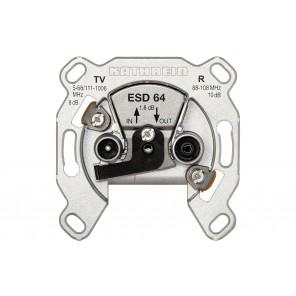 Kathrein ESD 64 BK-Durchgangs-Dose | 2-fach, 8dB Anschlussdämpfung