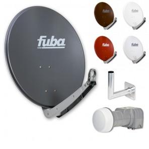Fuba DAA 650 HD Sat Anlage 2 Teilnehmer | Fuba DAA 650 + DEK 206 Twin LNB + Winkelwandhalter