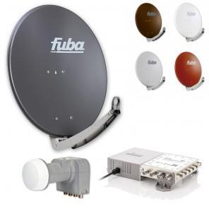 Fuba Sat-Anlage 8 Teilnehmer | erweiterbar bis 48 Teilnehmer | DAA780 + DEK406 + FMG508 | HDTV-, 4K- und 3D-kompatibel
