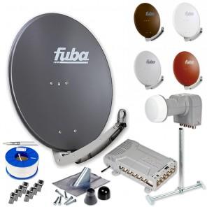 Fuba DAA 780 HD Sat Anlage 12 Teilnehmer | Fuba DAA 780 + LNB + 5/12 Premium Multischalter + Dachsparrenhalter + Montageset + 100m KKE 740 Brandschutz-Koaxialkabel inkl. F-Stecker