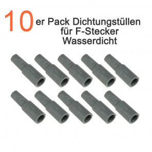 10er Pack High Quality Dichtungstüllen für F-Stecker