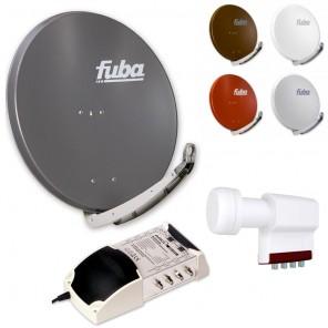 8-Teilnehmer-Sat-Anlage | Fuba DAA 850 Sat-Schüssel + LNB + 5/8 Multischalter