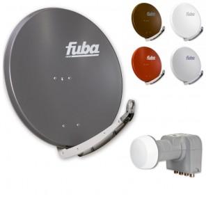 Fuba HDTV Sat-Anlage 4 Teilnehmer | Fuba DAA 850 Alu Sat-Antenne + DEK 417 Quad LNB
