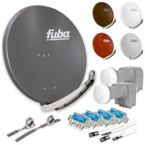 Fuba DAA 850 HD Sat Anlage 4 Teilnehmer 2 Satelliten | bis zu 24° Abstand, bspw. Astra/Hotbird oder Astra/Sirius