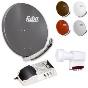 6-Teilnehmer-Sat-Anlage | Fuba DAA 850 Sat-Schüssel + LNB + 5/6 Multischalter