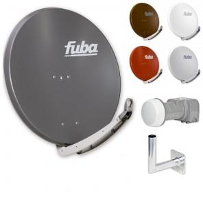 Fuba Digital Sat-Anlage 2 Teilnehmer | Fuba DAA 850 Sat-Antenne + DEK 217 LNB + Winkelwandhalter