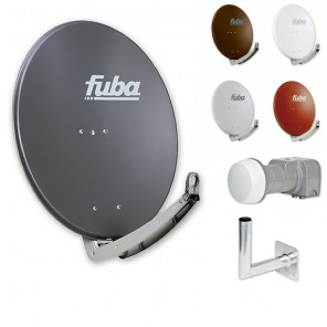 Fuba Digital Sat-Anlage 2 Teilnehmer | Fuba DAA 780 Sat-Antenne + DEK 217 LNB + Winkelwandhalter