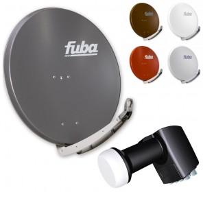 Fuba DAA 850 HD Sat Anlage - 8 Teilnehmer (Octo-Switch-LNB) - Sat Anlage bestehend aus Fuba DAA 850 in Ihrer Wunschfarbe + Inverto IDLB-OCTL40-00000-OPP Octo-Switch-LNB