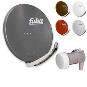 Fuba DAA 850 HD Sat Anlage - 1 Teilnehmer (m. DEK 106) - Sat Anlage bestehend aus Fuba DAA 850 in Ihrer Wunschfarbe + Fuba DEK 106 Single LNB