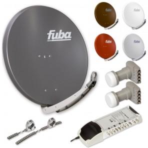 Fuba DAA 850 HD Sat Anlage (ASCI LNB u. Switch) - 8 Teilnehmer 2 Satelliten - Sat Anlage zum Empfang von 2 Satelliten mit bis zu 24° Abstand