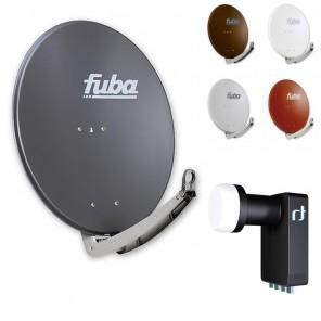 Fuba DAA 780 HD Sat Anlage - 4 Teilnehmer (m. Inverto Quad LNB) - Sat Anlage bestehend aus Fuba DAA 780 in Ihrer Wunschfarbe + Inverto Black Ultra Quad LNB