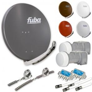 Fuba DAA 850 HD Sat Anlage - 2 Teilnehmer 2 Satelliten - Sat Anlage zum Empfang von 2 Satelliten mit bis zu 24° Abstand