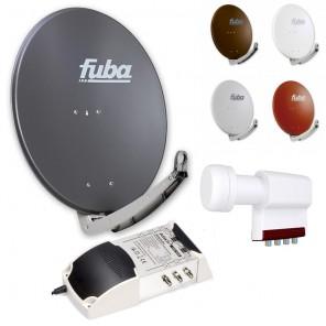 6-Teilnehmer-Sat-Anlage | Fuba DAA 780 Sat-Schüssel + LNB + 5/6 Multischalter