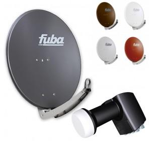 Fuba DAA 780 HD Sat Anlage für 8 Teilnehmer (Octo-Switch-LNB) | Fuba DAA 780 Sat-Schüssel in Wunschfarbe + Inverto Octo-Switch-LNB