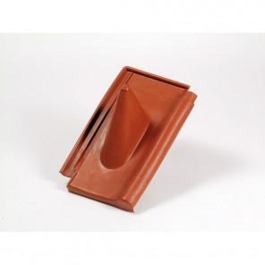 PPR 200 Profil Kunststoff Dachziegel rot | Durchführung von Antennenmasten bis 60mm, elastischer Einführungsstutzen, 240 x 390 mm