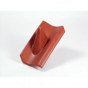 HPR 202 Hohl Kunststoff Dachziegel rot | Durchführung von Antennenmasten bis 60mm, elastischer Einführungsstutzen, 230 x 400 mm