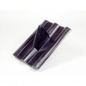 FPS 203 Frankfurter Pfanne Kunststoff Dachziegel schwarz | Durchführung von Antennenmasten bis 60mm, elastischer Einführungsstutzen, 330 x 400 mm