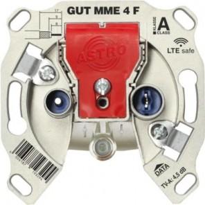 Astro GUT MME 4 F Multimedia Einzeldose 4dB   Stichleitungsdose 5-1218 MHz, TV/Radio/Data, LTE safe
