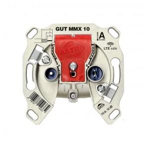 Astro GUT MMX 10 Wiclic Multimedia Einzeldose 10dB   Modem Enddose 5-1218 MHz, TV/Radio/Data, LTE safe