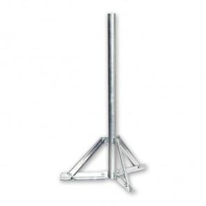 SSF 080 Sat Antennen Standfuß mit 75 cm Rohrlänge, 42 mm Durchmesser, Stahl feuerverzinkt | Halterung für Sat Schüssel