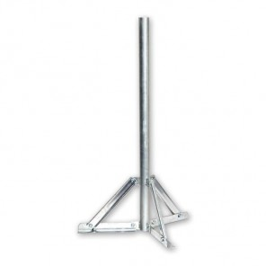 ASCI SSF 080 feuerverzinkter Standfuß mit 80cm Rohrlänge