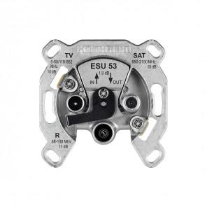 Kathrein ESU 53 SAT Durchgangsdose 3-fach | DC-Durchlass, programmierbar, für Einkabelsysteme, 10dB