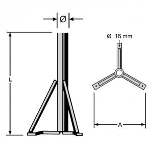 Kathrein ZAS 15 Standfuß   für ZAS 120/ CAS 120, 810 mm Rohrlänge, 76 mm Ø