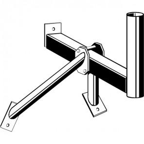 Kathrein ZAS 16 Wandbefestigung | für ZAS 120/ CAS 120, 550 mm Wandabstand, 76 mm Ø