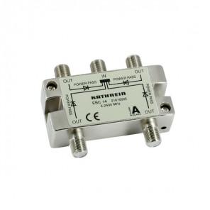 Kathrein EBC 14 4-fach Sat/BK Verteiler | 4-fach Splitter, 5 bis 2400 MHz, ClassA, Unicable-tauglich